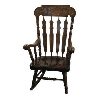 Vintage Wooden Rocking Chair For Sale