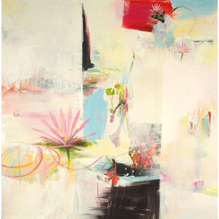 """""""Wish"""" Contemporary Abstract Acrylic Collage Painting by David Criner For Sale"""