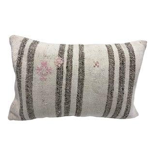 Stripe Design Tribal Handmade Turkish Anatolian Sofa Kilim Pillow For Sale