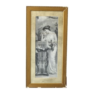 Late 19th Century Antique 'A Labour of Love' Victorian Art Nouveau Framed Print For Sale