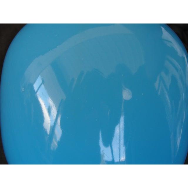 Mid-Century Modern Murano Blue Empoli Art Glass - Image 5 of 5