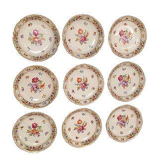 Schumann Empress Flat Soup Bowls - Set of 9 For Sale