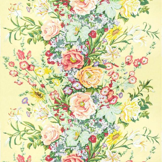 Vintage Bassett McNab Summer House Floral Fabric, 1 Yard For Sale