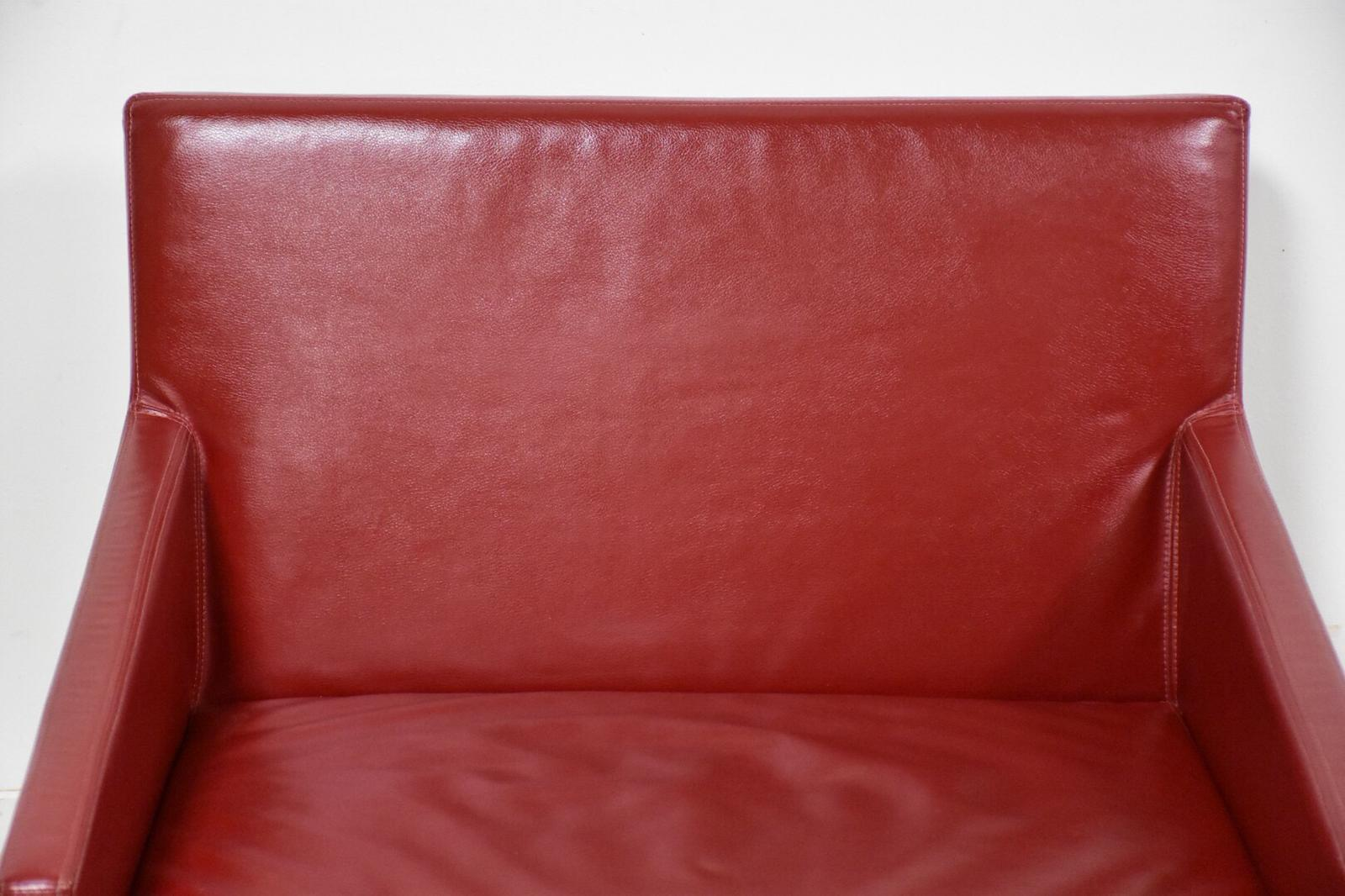 Superieur Bernhardt Modern Red Leather Lounge Chair For Sale   Image 9 Of 10