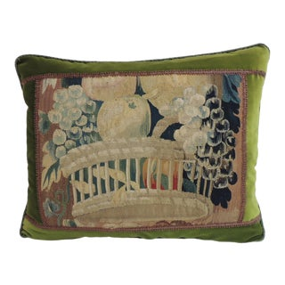 18th Century Aubusson Tapestry Decorative Pillow For Sale