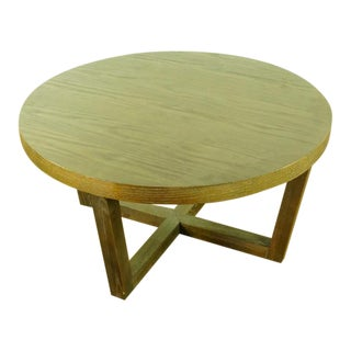 Crate and Barrel Contemporary Wood Coffee Table