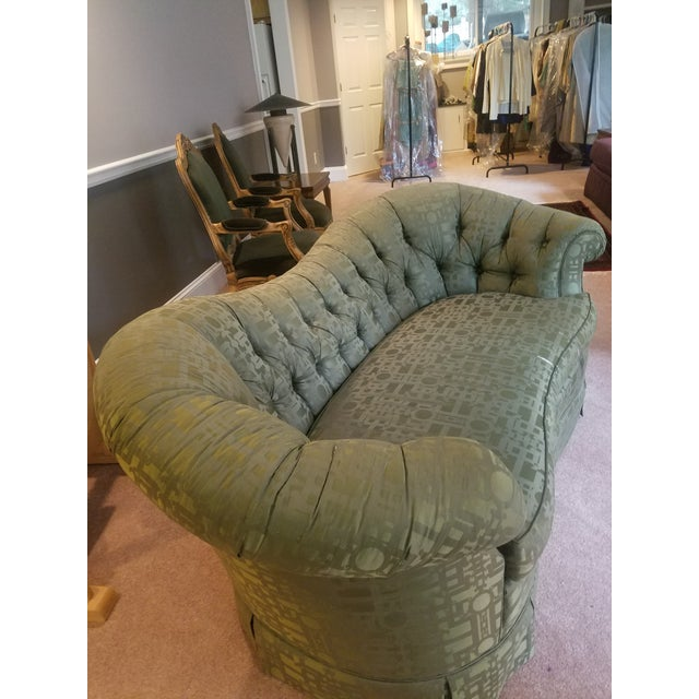 Traditional Baker Furniture Victorian Style Loveseats - Pair For Sale - Image 3 of 7