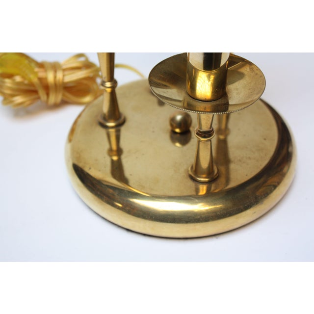 Brass American Modern Brass Three-Fixture Table Lamp For Sale - Image 7 of 9
