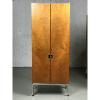 Knoll Armoire Cabinet in Teak and Chrome Custom Order Knoll Chest Bookshelf Preview