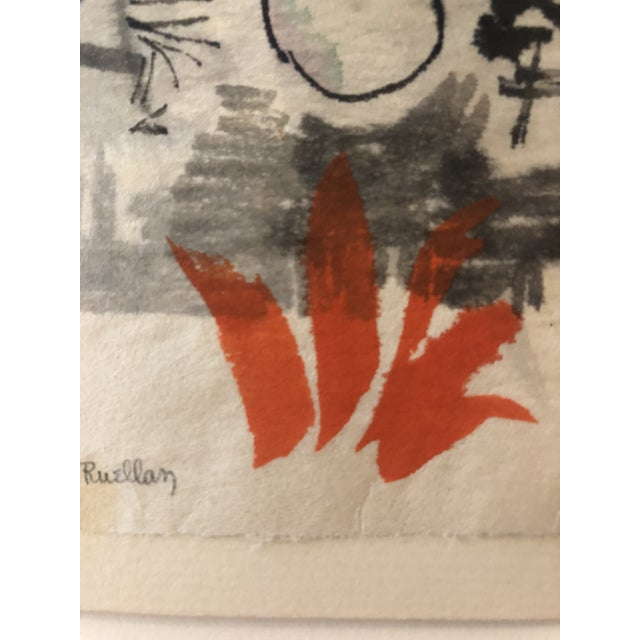 Mid-Century Modern Abstract by Andree Ruellan 1966 For Sale - Image 6 of 7