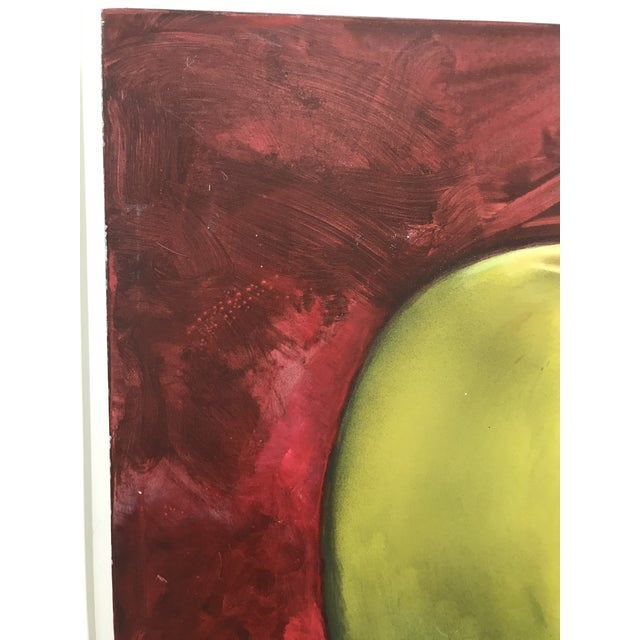 Paint Circa 1990s Golden Apples Tom Seghi Acrylic Monumental Still Life Oil on Canvas Painting For Sale - Image 7 of 12