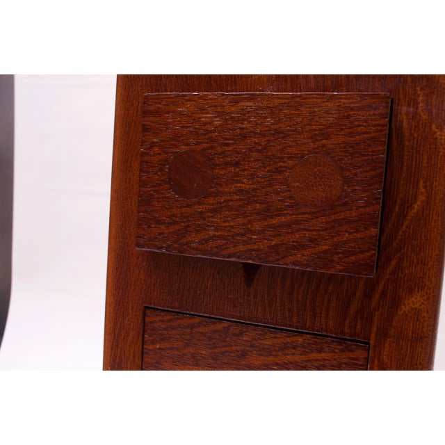 Art Deco Hand Carved Mahogany Three-Drawer Jewelry Chest / Storage Compartment For Sale - Image 10 of 13