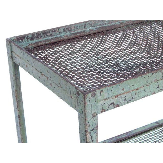 Long Narrow Industrial Mesh Console - Image 9 of 11