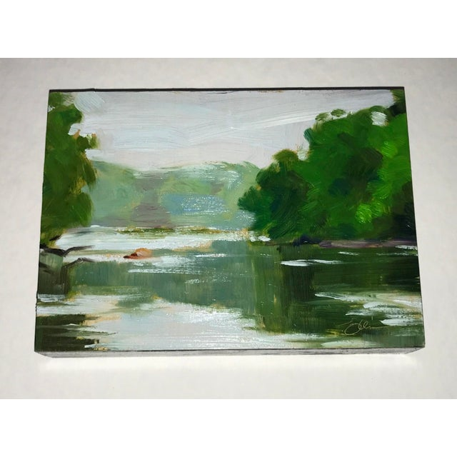 Miniature Landscape Oil Painting - Image 4 of 4