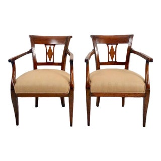 1830s Italian Neoclassical Armchairs - a Pair For Sale