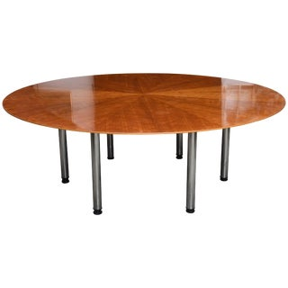 Swedish Circular Large Dining Table, Klaus Wettergren, 1970s For Sale