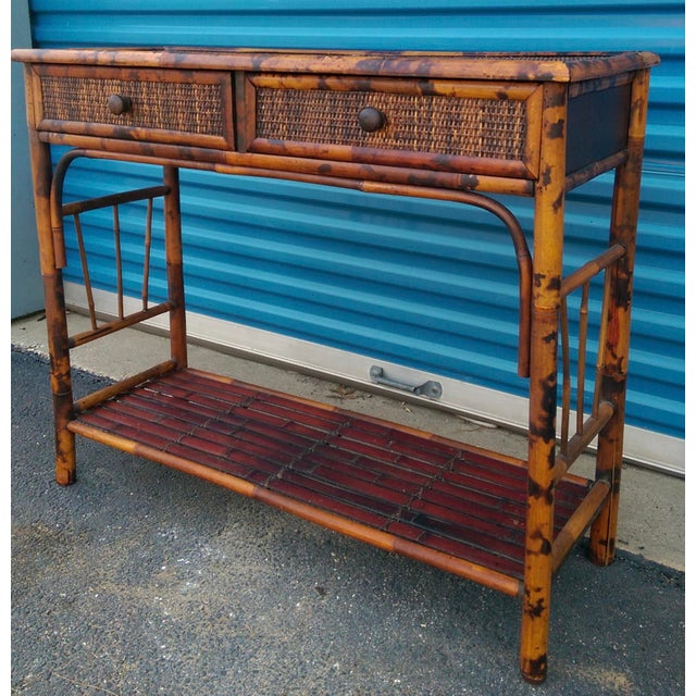 Bamboo & Reed 2-Drawer Console Table - Image 3 of 9