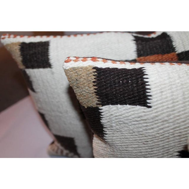 Group of Three Navajo Indian Weaving Bolster Pillows For Sale - Image 4 of 6