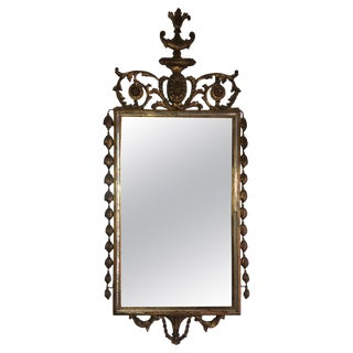 French Carved Giltwood Regency Mirror, Mid-20th Century For Sale