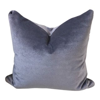 Contemporary J Robert Scott Lavender Silk Velvet Mohair Pillow For Sale