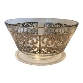 Mid-Century Modern Georges Briard Silver Decorated Bowl For Sale
