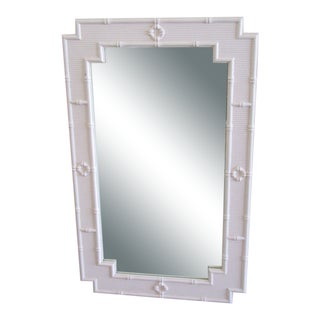 Palm Beach Faux Bamboo Mirror For Sale