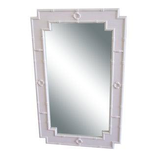 Palm Beach Faux Bamboo Mirror For Sale