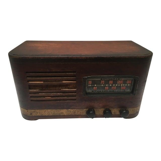 1940s Vintage Watterson Mid-Century Wood Radio/Short Wave For Sale