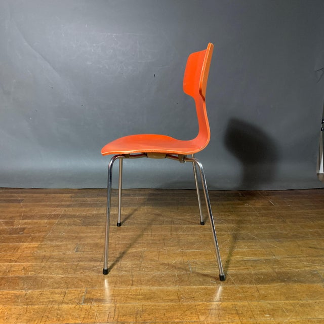 1970s Vintage Arne Jacobsen For Fritz Hansen Dining Chairs-Set Of 5 For Sale In New York - Image 6 of 11