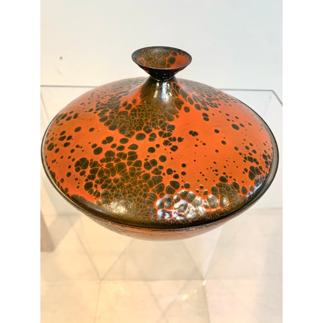 Moroccan Artist 1960s Lidded Enamel Casserole Bowl For Sale - Image 4 of 6