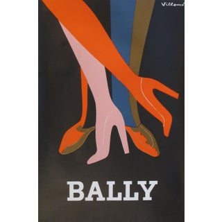 1979 Original French Fashion Poster Villemot Bally