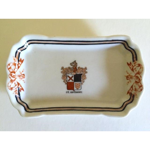 Ceramic Vintage Mid Century International Hotel & Restaurant Ceramic Ashtrays - Set of 4 For Sale - Image 7 of 12
