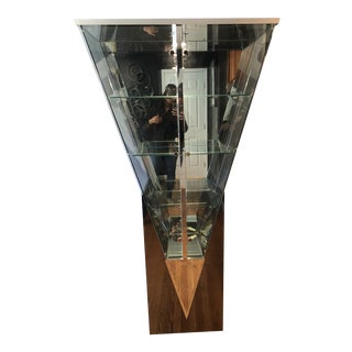 1970's Vintage V-Shaped Vitrine by Ello For Sale