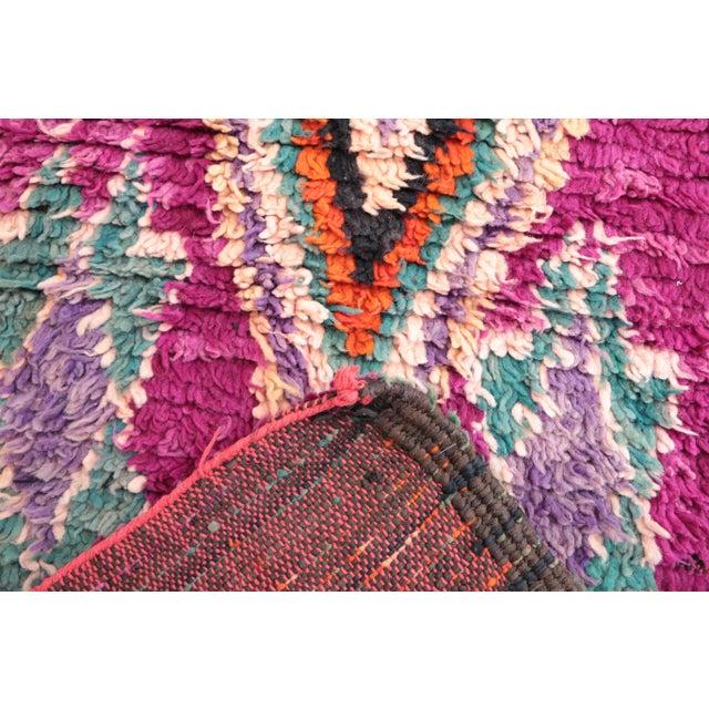"Vintage Boujad Moroccan Rug - 2'7"" x 11'11"" - Image 4 of 4"
