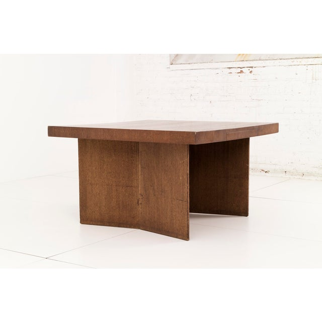 Frank Lloyd Wright partners desk from the Dorothy 48 house in Detroit, Michigan. This angular desk is made from mahogany...
