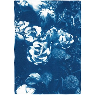 2020 Blue Bouquet Contemporary Cyanotype on Watercolor Paper For Sale