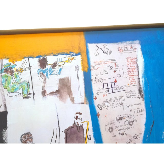"""Jean Michel Basquiat Rare Vintage 1997 Framed Lithograph Fine Art Print """" Worthy Constituents """" 1986 For Sale - Image 9 of 13"""