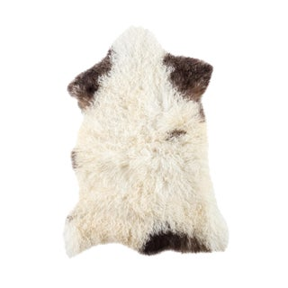 "Contemporary Hand-Tanned Sheepskin Pelt - 2'1""x3'0"""