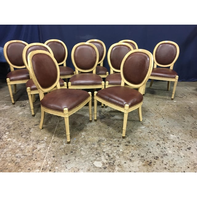 Baker Oval Back Side Chairs - Set of 10 For Sale - Image 12 of 12