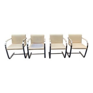 Vintage Knoll Chrome Dining Chairs - Set of 4 For Sale