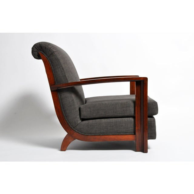 Hungarian Art Deco Solid Walnut Chair For Sale - Image 4 of 12