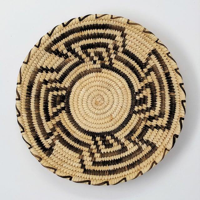 20th Century Native American Tohono O'odham Woven Basket For Sale - Image 4 of 9