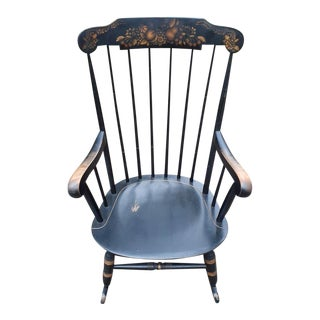 1950s Vintage Nichols & Stone Windsor Style Rocking Chair For Sale