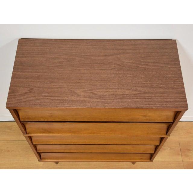 Johnson Carper Walnut and Formica Tall Dresser - Image 5 of 8