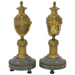 Pair of Louis XVI Bronze Cassollettes For Sale
