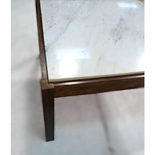Danish Modern Rosewood & Marble Coffee Table - Image 7 of 10