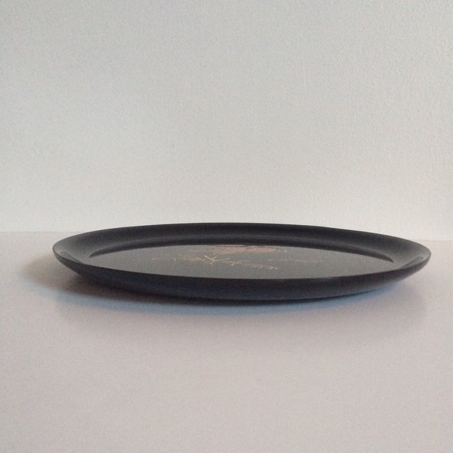 Couroc Vintage Black Butterfly Tray - Image 7 of 7