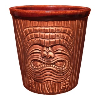 Three Faced Bisque Tiki Mug
