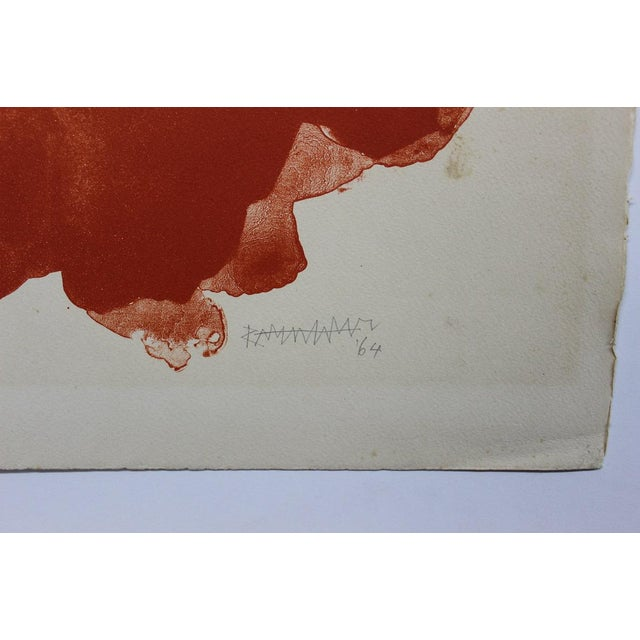 Abraham Rattner Abraham Rattner Abstract Painting Orange and Black For Sale - Image 4 of 5