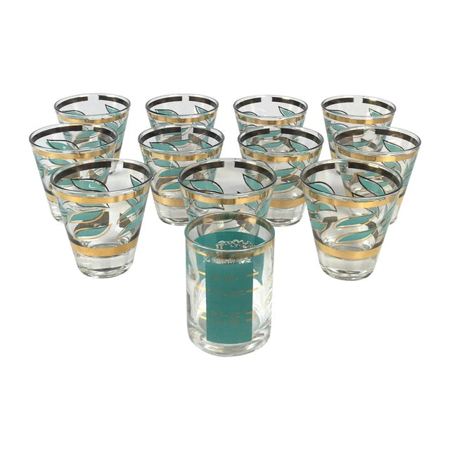 Mid-Century Shot Glasses and Jigger - Set of 12 - Image 1 of 7